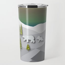 Afternoon Polar Bears Travel Mug