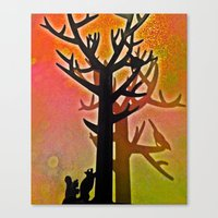 tree of life Canvas Prints featuring Tree Life by Colour pirate - Jaylene Malone