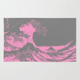 The Great Wave Pink & Gray Rug