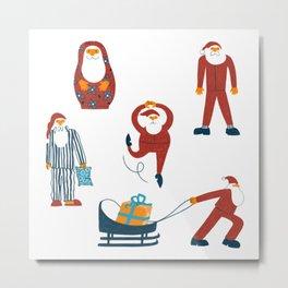 All Santa Claus Metal Print