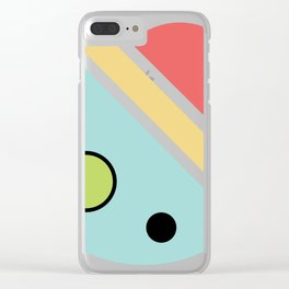 Chatty spaceship Clear iPhone Case