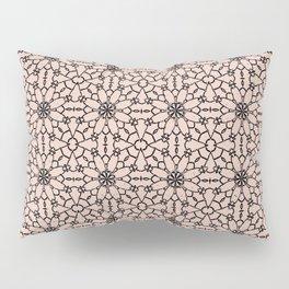 Pale Dogwood Lace Pillow Sham