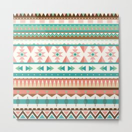Tribal Pattern IV Metal Print
