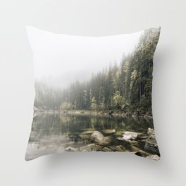 Pale lake - landscape photography Throw Pillow