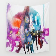 alive and walking (abstract) Wall Tapestry