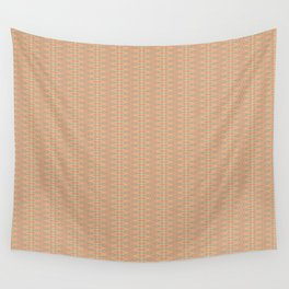 Delicate Peach Damask Pattern Wall Tapestry