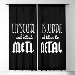 Cuddle Listen To Metal Music Quote Blackout Curtain