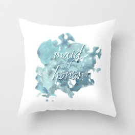 Maid of Honor Watercolor Throw Pillow