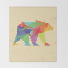 Fractal Geometric bear Throw Blanket