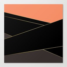 Angelica . Coral , black , brown Canvas Print