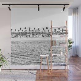 Vintage Newport Beach Print {4 of 4} | Photography Ocean Palm Trees B&W Tropical Summer Sky Wall Mural