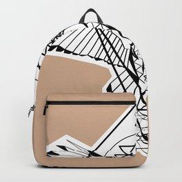 Geometric owl with Sacred Geometry  Backpack
