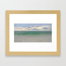 Evening Storm Passing By Framed Art Print