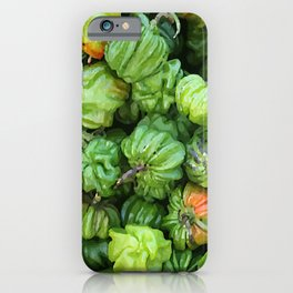 Green Chillies pepperoni Illustration iPhone Case