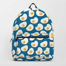 Fried eggs food pattern Backpack
