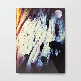 Space Wolf Dream Metal Print
