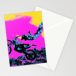 Letting Go - Freestyle Motocross Stunt Stationery Cards