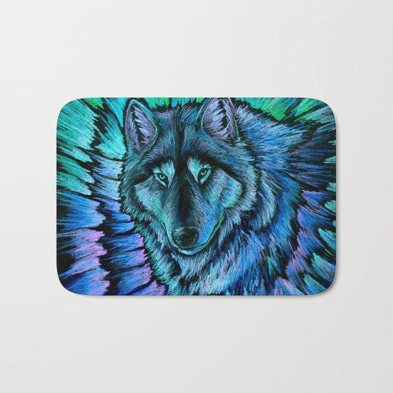 Wolf Aurora Bath Mat