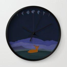 Lunatic Deer Wall Clock