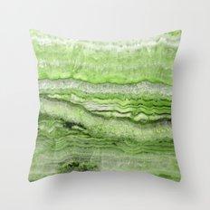 Mystic Stone - Grassy Throw Pillow