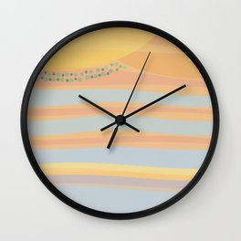 Nr. 19 - Here comes the sun Wall Clock