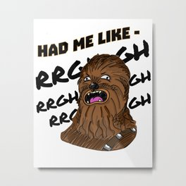 """Chewy- """"RGHGHGH"""" Metal Print"""