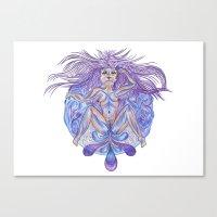 vagina Canvas Prints featuring Vagina in sorrow | Vagina en llanto by Valentina Raventós