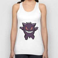 gengar Tank Tops featuring Gengar The Ghost - First Generation Pocket Monsters Design Cartoon by Jorden Tually Art