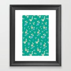 blossom ditsy in emerald Framed Art Print