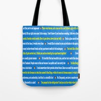 anchorman Tote Bags featuring Anchorman Quotes by Dr. Spaceman40