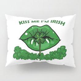 St Patricks Day For Women Green Lips Shamrock Gift Pillow Sham