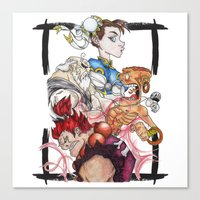street fighter Canvas Prints featuring Street Fighter by Mazuki Arts