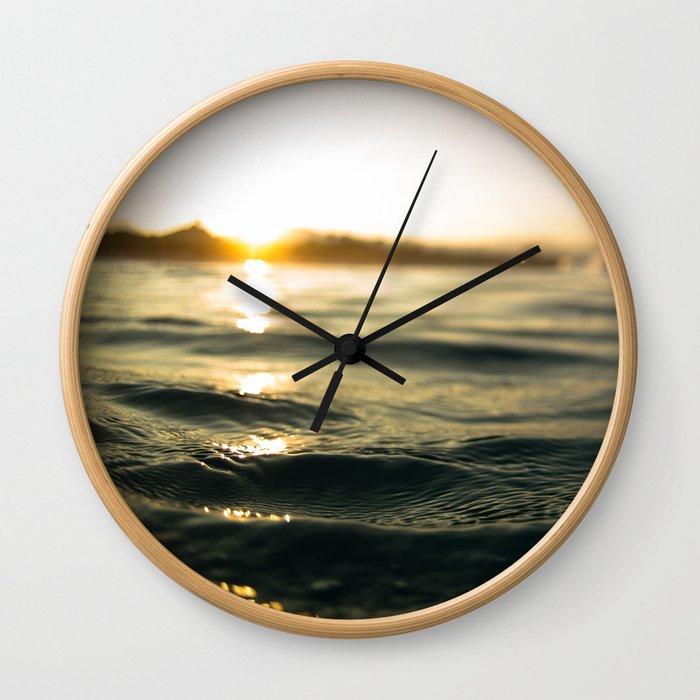 Golden Hour III Wall Clock