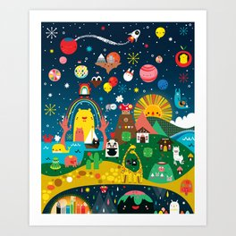 Super Mini Universe Print Art Print