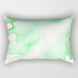 170928 Never Leaves 3 |Monstera Watercolor Art | Abstract Watercolors Rectangular Pillow