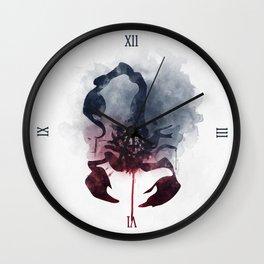 When Lucifer Fell Scorpion Wall Clock