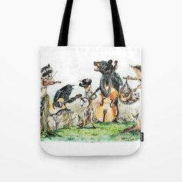 """ Bluegrass Gang "" wild animal music band Tote Bag"