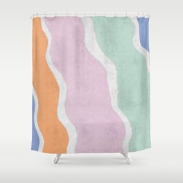 Pastel Waves Shower Curtain