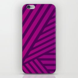 Pink and Purple Lines Geometric Abstract Design iPhone Skin