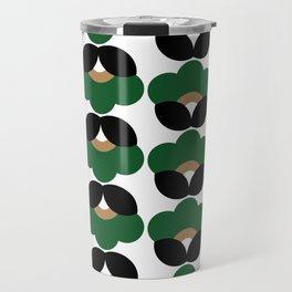 Green flowers Travel Mug