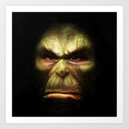 Orc face Art Print
