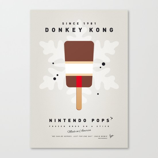 My NINTENDO ICE POP - Donkey Kong Canvas Print