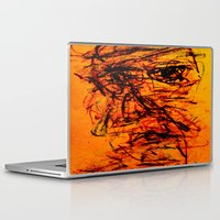depression Laptop & iPad Skins featuring Depression in Charcoal by Abram Freitas