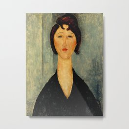 Amedeo Modigliani - Portrait of a Young Woman Metal Print
