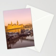 Cityscape London In Winter Stationery Cards