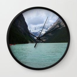 Lake Louise From The Eastern Shore Wall Clock