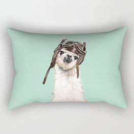 Cool Pilot Llama Rectangular Pillow