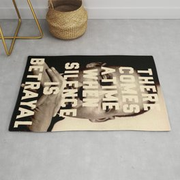 Martin Luther King Quote Rug