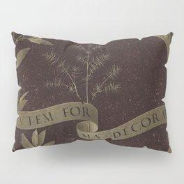 "Leonardo Da Vinci ""Wreath of Laurel, Palm, and Juniper with a Scroll inscribed Virtutem Forma Decor"" Pillow Sham"
