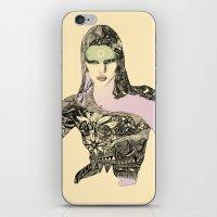 megan lara iPhone & iPod Skins featuring Lara by hyperpattern